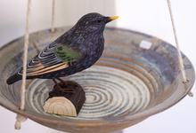 Drejade fågelbad