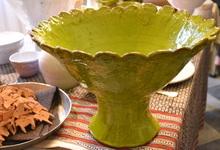 Keramikskål i lera från Horns Tegelbruk