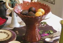 Keramikskål i lera från Horns Tegelbruk, transparent glasyr